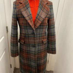 Ralph Lauren blanket plaid full length coat Sz 6